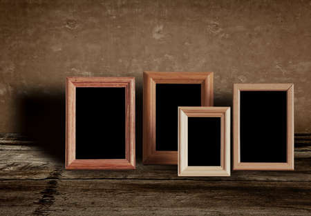 photo frames on old table photo