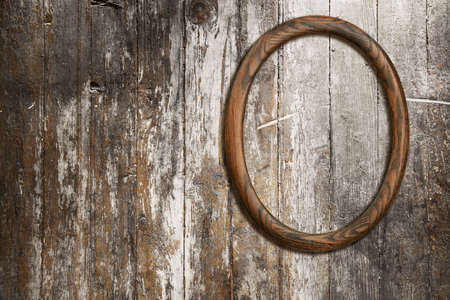 blank photo-frame on old wooden background Stock Photo - 16794507
