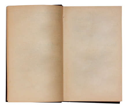blank open book isolated on white background with clipping path photo