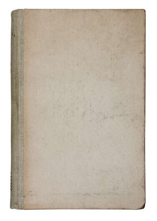 old book isolated on white background with clipping path photo