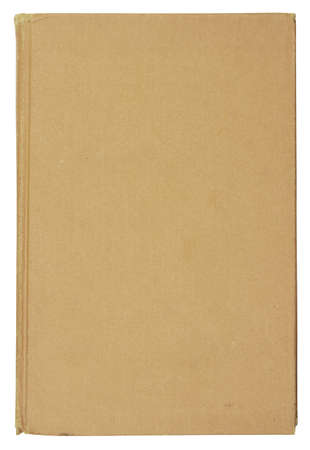 crinkled: old book isolated on white background with clipping path