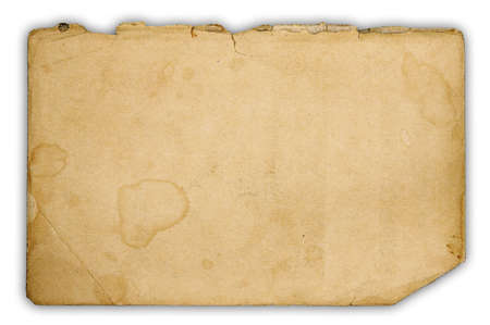 ragged old paper isolated on white background with clipping path Stock Photo - 17554223