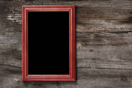 blank frame on old wooden background  Stock Photo - 17558652