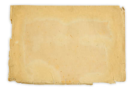 vintage paper isolated on white background with clipping path Stock Photo - 17553860