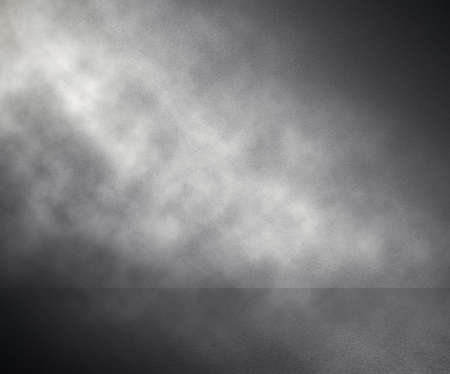 fog in grey room, studio background Stock Photo