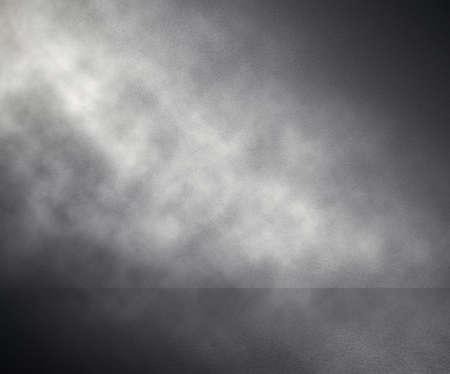 fog in grey room, studio background Standard-Bild