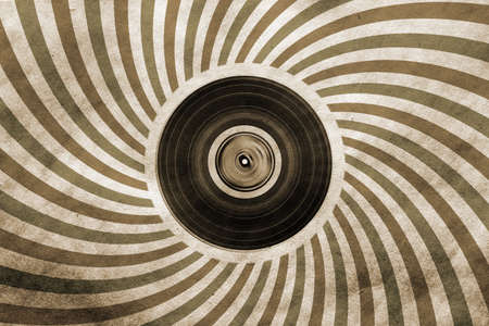 lp: vintage musical background with vinyl LP  Stock Photo