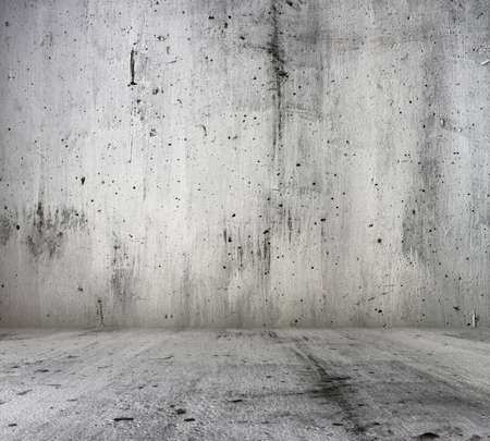 old grunge room with concrete wall, urban background Stock Photo - 18557439