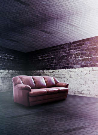 modern club interior with sofa photo