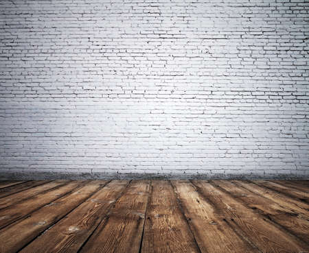 old room with brick wall, vintage background  Stock Photo - 19259110