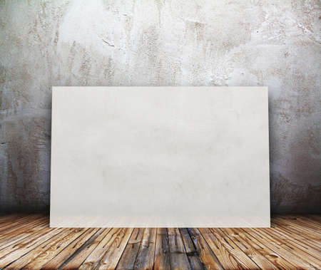 billboard in old room, background with placard Stock Photo - 19259102