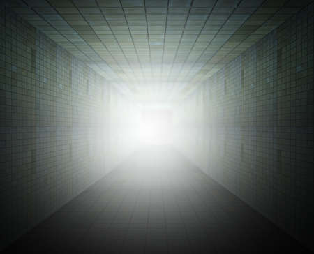light at the end of the tunnel  photo