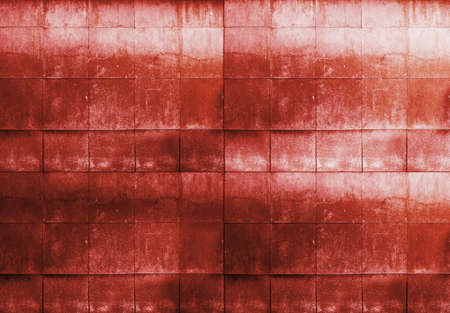 old tile wall, red background photo