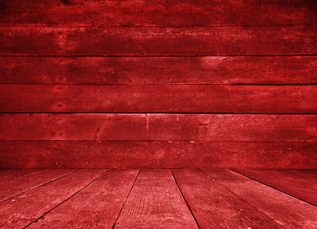 old red room, wooden wall photo