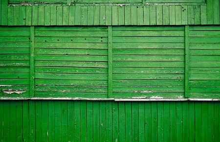 crackle: old wooden wall, green background