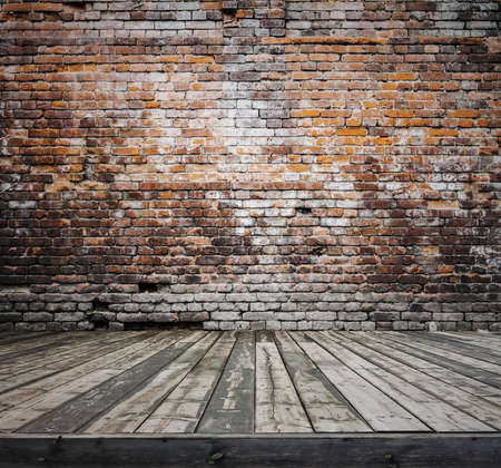 brick background: old room with brick wall, vintage background
