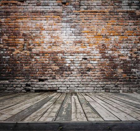 old room with brick wall, vintage background Zdjęcie Seryjne - 25162882