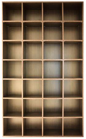 empty wooden shelves photo