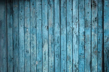 painted old wooden wall. blue background  photo