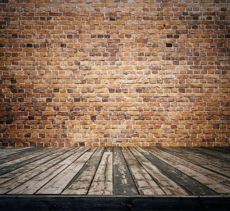 old room with brick wall, vintage background Zdjęcie Seryjne - 25163032