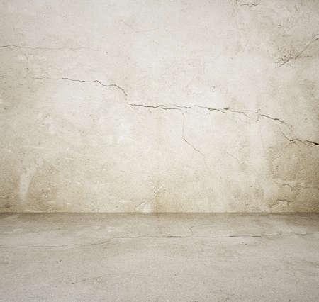 Habitación vacía con muro de hormigón, fondo gris Foto de archivo - 25163045