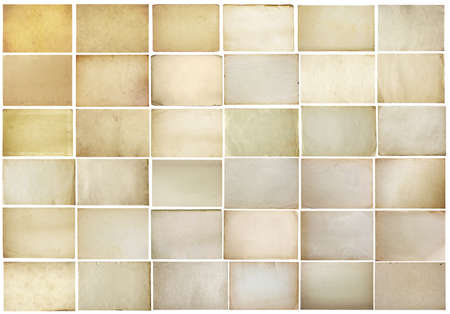 paper background: old papers set isolated on white background with clipping path