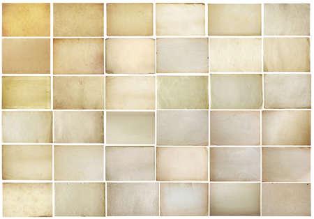 oude papieren set geà ¯ soleerd op een witte achtergrond met clipping path