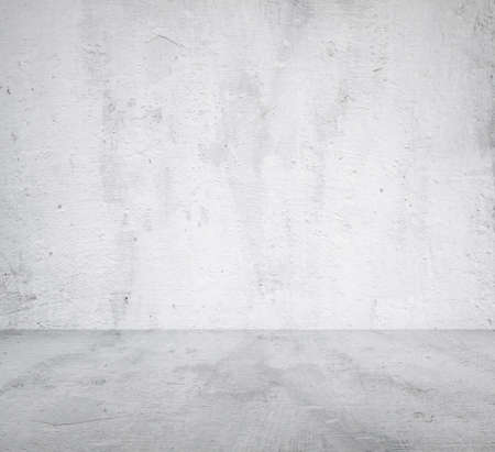 empty room with concrete wall, grey background Banco de Imagens