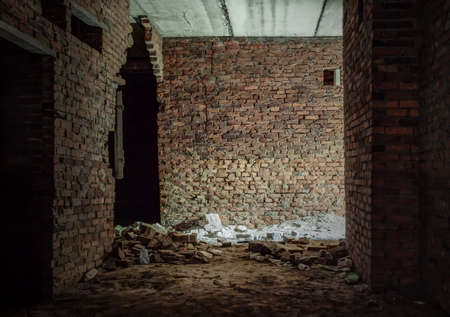interior of an old abandoned building  photo