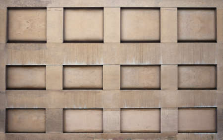 niches: concrete wall with niches, urban background