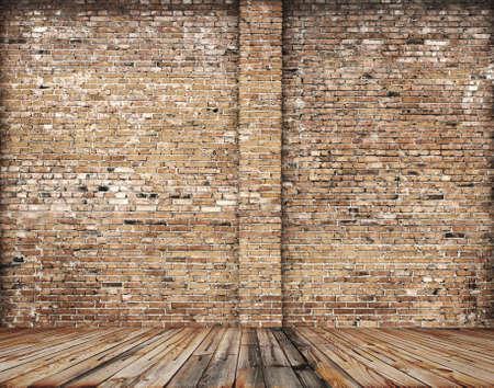 La antigua habitación con paredes de ladrillo, fondo vintage Foto de archivo - 31361618
