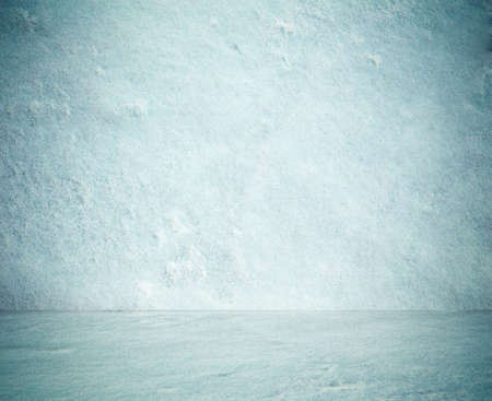 ice crystals: frozen snow room, christmas background Stock Photo