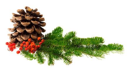 decoraciones de navidad: decoración de Navidad aislado en el fondo blanco