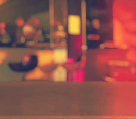 bar counters: bar in a night club, retro filtered Stock Photo