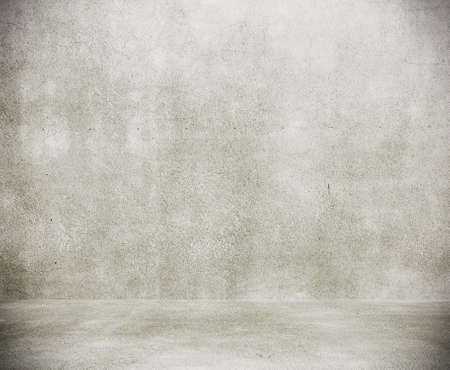empty room with concrete wall, grey background Standard-Bild