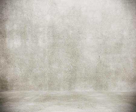 empty room with concrete wall, grey background Archivio Fotografico