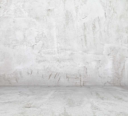 grunge: old empty room with concrete wall, interior background Stock Photo