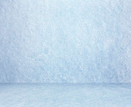cold room: frozen snow room, christmas background Stock Photo