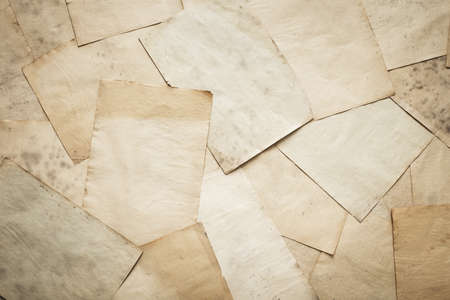 wastepaper: stack of old papers