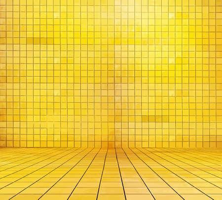 golden mosaic room, gold background, vector 向量圖像