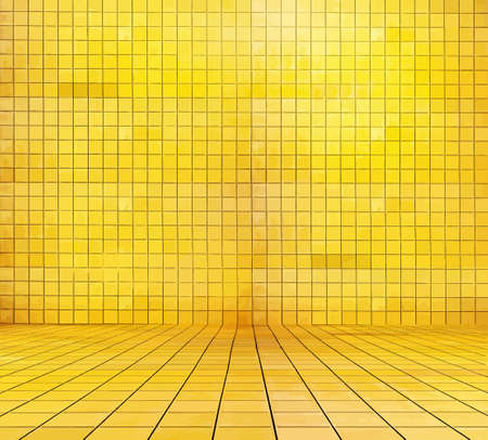 golden mosaic room, gold background, vector Illustration