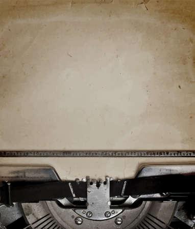 maquina de escribir: máquina de escribir obsoleta con papel, vector