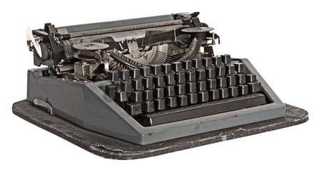 key pad: vintage typewriter, vector