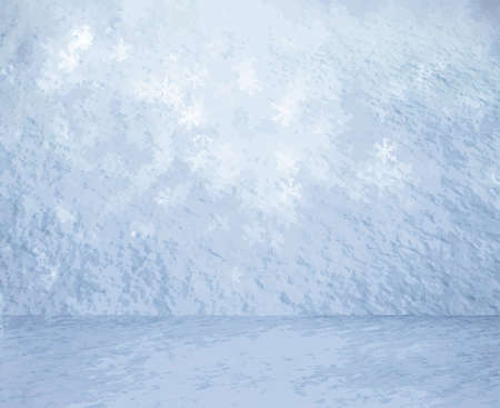 christmas room: frozen snow room, christmas background, vector