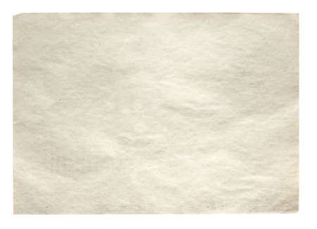 blank space: old paper isolated on white background with clipping path Stock Photo