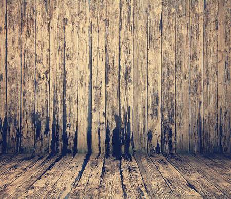 background vintage: old wooden interior, retro filtered