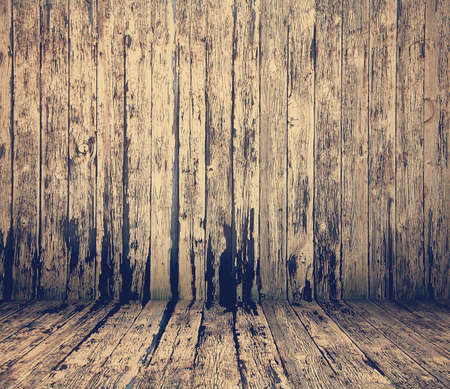 old wooden interior, retro filtered