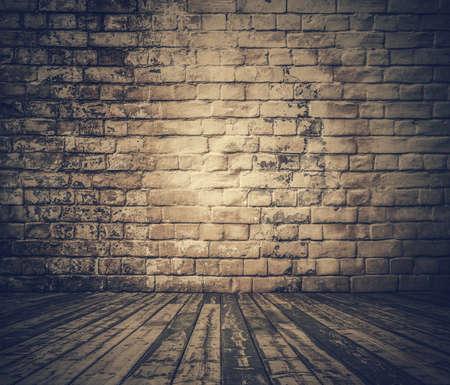 ladrillo: sala de viejo, retro filtrada Foto de archivo