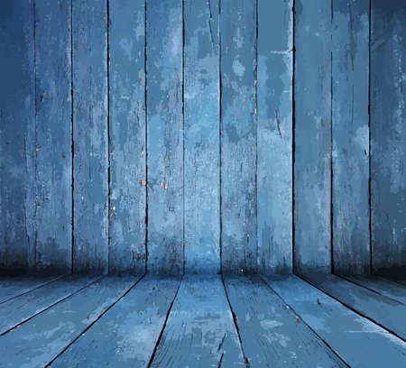 chambre bleue Vecteurs