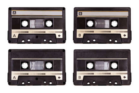 gold record: audio cassette isolated on white background with clipping path
